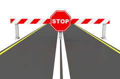 The roadblock. 3d generated picture of a roadblock Royalty Free Stock Image