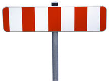 Roadblock_isolated Stock Images