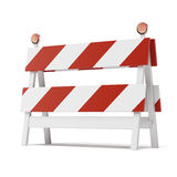 Roadblock isolated on white background Royalty Free Stock Photo