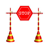 Roadblock stop Stock Photo