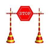 Roadblock stop Stock Photo