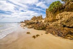 Roadknight点海滩在大洋路 库存图片