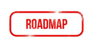 Roadmap - red grunge rubber, stamp.  vector illustration