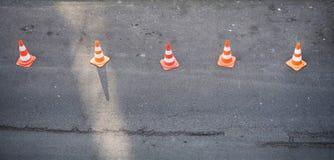 Roadmarker cones Stock Images