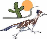 ROADRUNNER SCENE Royalty Free Stock Image