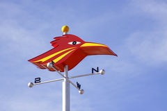 Roadrunner Windvane. Red Roadrunner bird wind vane, Commuter rail system between Albuquerque and Santa Fe, New Mexico, USA royalty free stock photos