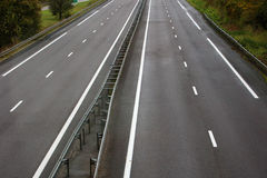 Roads. Over the highway near Strasgourg Stock Image