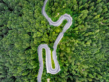 Roads from above stock image