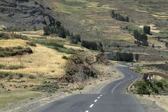 Roads along the Rift Valley in Ethiopia Royalty Free Stock Photography