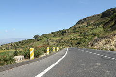 Roads along the Rift Valley in Ethiopia Royalty Free Stock Photo