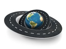 Roads Around The World Royalty Free Stock Photography