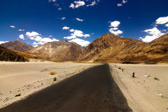 Roads in the barren land of ladakh Stock Images
