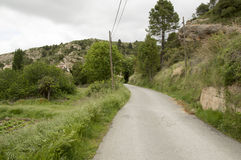 Roads Beceite. In Teruel, Aragon, Spain Royalty Free Stock Photo
