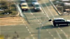 Roads in Bucharest stock footage