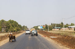 Roads in Cambodia. Cambodia is one of the poorest country on the world. After US bombardment and than Red Kmher cruel regime most of the Cambodia infrastracture Stock Photography