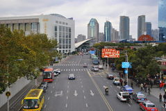 Roads in China. Roads in Shanghai, China. Easy access to any part of the city Royalty Free Stock Image
