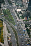 Roads in China. Roads in Shanghai, China. Easy access to any part of the city Stock Photos