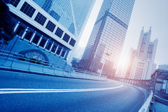 Roads and cities Royalty Free Stock Images