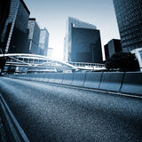 Roads and cities Stock Image