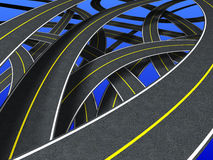 Roads (continuous strip) royalty free illustration