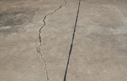 Roads cracked Royalty Free Stock Photos