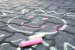 Roads Crayon Stock Image