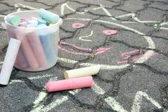 Roads Crayon Stock Photos