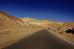 Roads through Death Valley Stock Photography