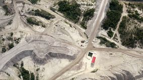 Roads on dump dumps quarry for the movement of mining equipment stock video