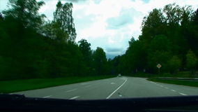 Roads of Europe. Germany. the car moves on the stock video