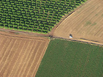 Roads and fields royalty free stock photo