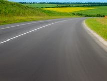 ROADS OF FIELDS Royalty Free Stock Photography