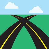 Roads Intersecting Royalty Free Stock Photography