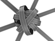 Roads knot Stock Images