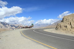 Roads in ladakh. Royalty Free Stock Images