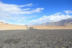 Roads in ladakh. Royalty Free Stock Photo