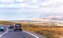 Roads on Lanzarote island Stock Image