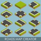 Roads map creator. Isometric Stock Photos
