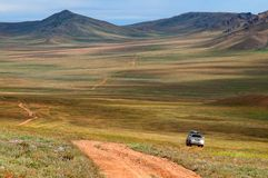 Roads in Mongolia Stock Images