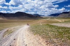 Roads in Mongolia Stock Photo