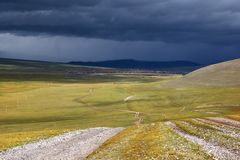 Roads in the Mongolia Stock Photography