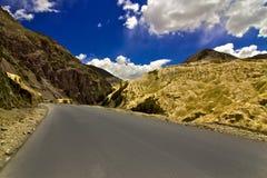 Roads through the Moon Land Mountains,Ladakh,India Royalty Free Stock Images