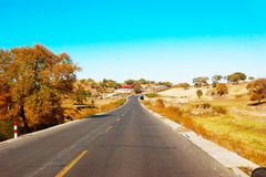 Roads and mountains Royalty Free Stock Photos