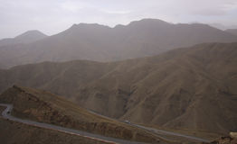 Roads in the mountains of Morocco Royalty Free Stock Photography