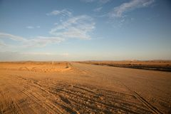 Roads in Namibia Royalty Free Stock Images