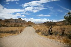 Roads in Namibia Royalty Free Stock Photo