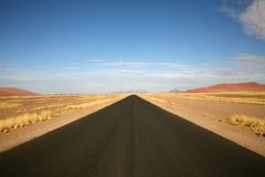 Roads in Namibia Royalty Free Stock Photos