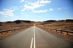 Roads in Namibia Stock Photo