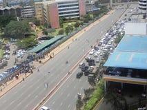 Roads in Narobi. Roads in Kenya university way in Nairobi Kenya Royalty Free Stock Photos