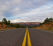 Roads in national park Stock Images
